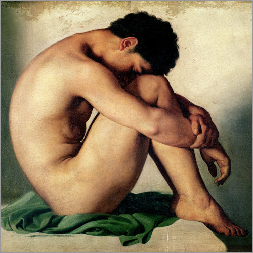 Vinilo para la pared Study of a Nude Young Man