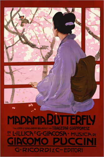 Póster Puccini, Madame Butterfly