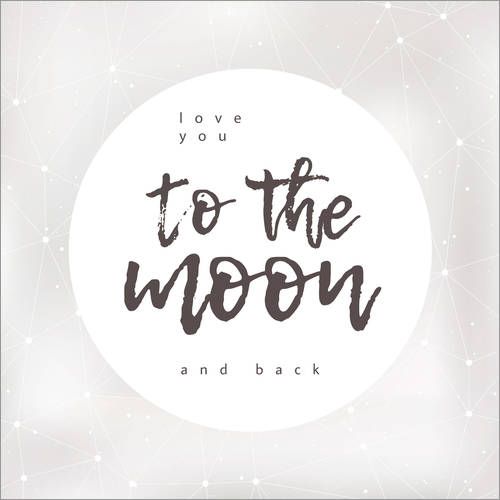 Vinilo para la pared To the moon and back