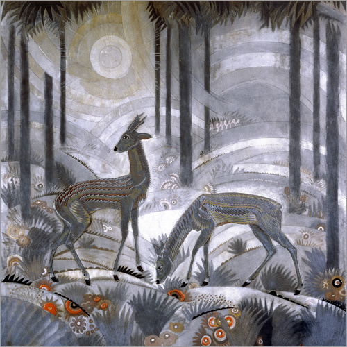 Vinilo para la pared Two deer in the woods