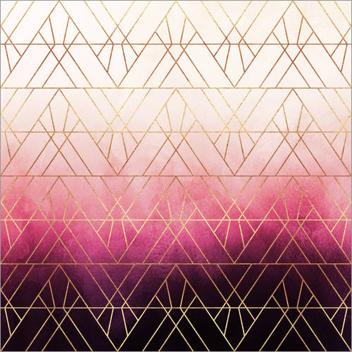 Vinilo para la pared Pink Ombre Triangles