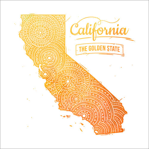 Vinilo para la pared california