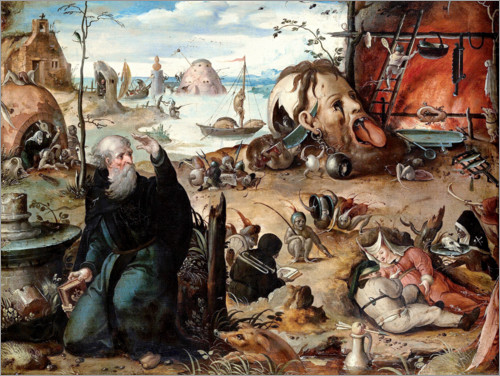 Póster The temptation of St. Anthony