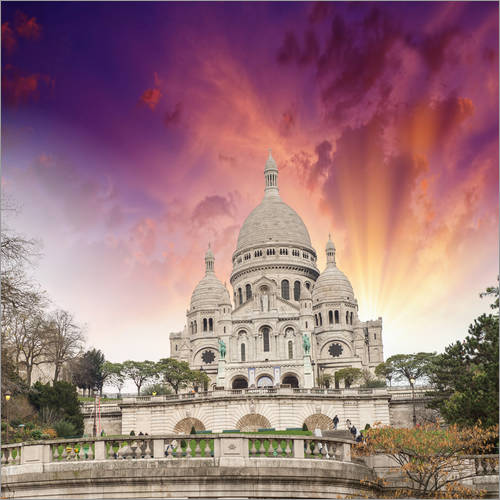 Vinilo para la pared Sacred Heart Cathedral in Montmartre