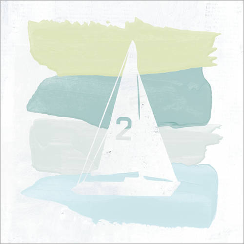 Vinilo para la pared Seaside Swatch Sailboat