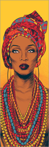 Póster Mujer africana
