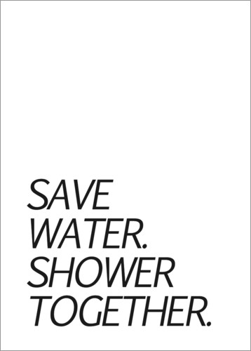 Póster Save water