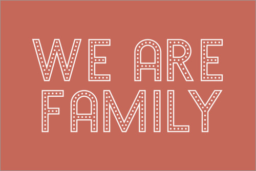 Póster We are family