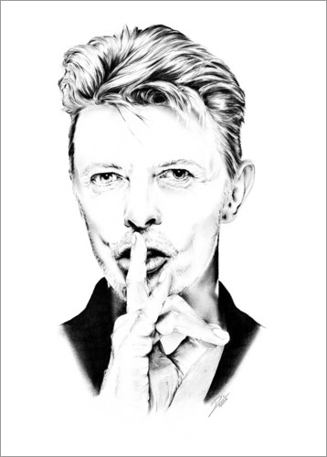 Póster Retrato de David Bowie