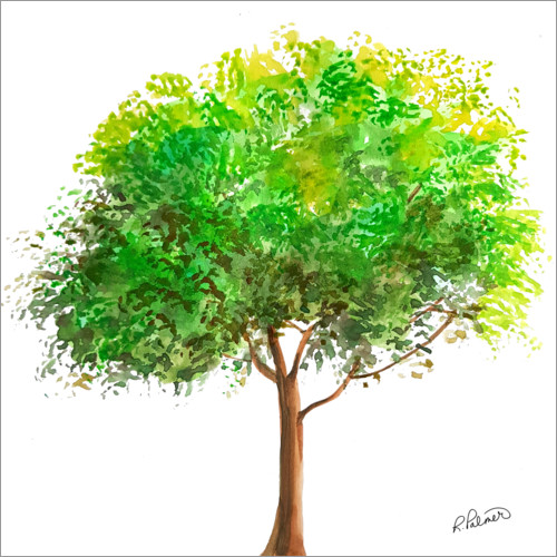 Póster Simple Green Tree