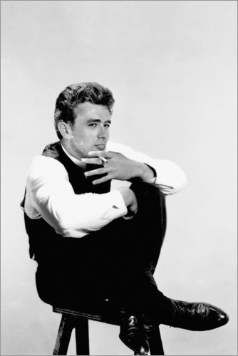 Póster James Dean fumando