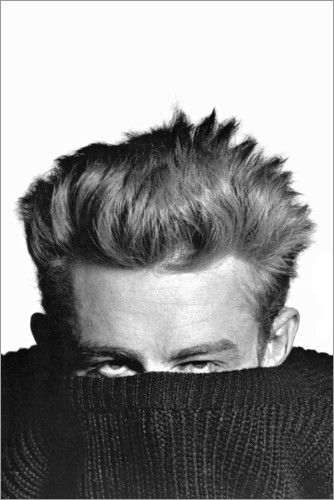 Póster James Dean escondido