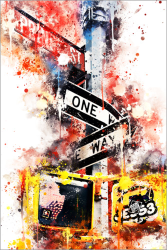 Póster NYC One Way Street