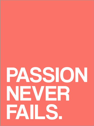 Póster Passion never fails
