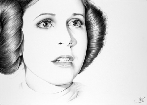 Póster Carrie Fisher