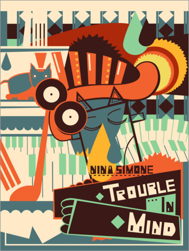 Póster Nina Simone - Trouble in Mind