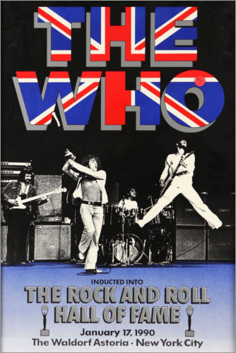 Póster The Who - Hall of Fame