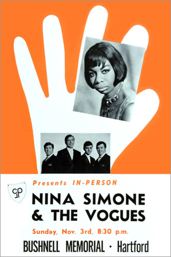 Póster Nina Simone y The Vogues