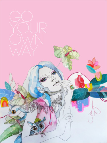 Póster Go your own way