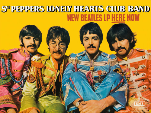 Póster Sgt. Pepper's Lonely Hearts Club Band (inglés)