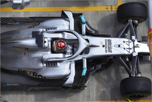 Póster Lewis Hamilton in the pits, Mercedes AMG F1, Russian GP 2019