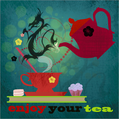Vinilo para la pared Enjoy your tea