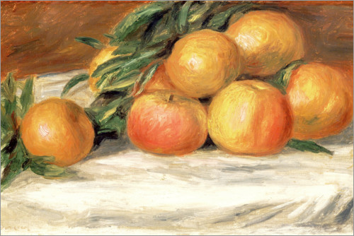 Póster Still Life with Apples and Oranges