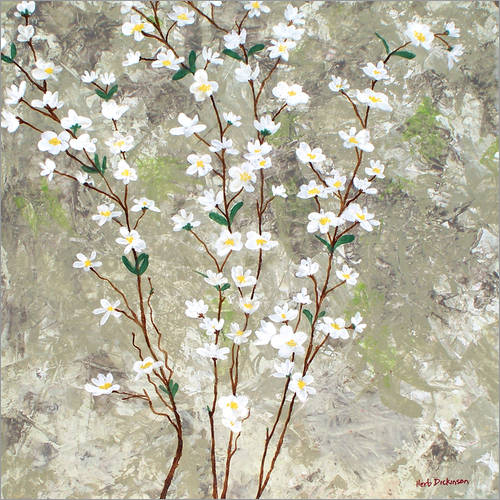 Vinilo para la pared Pear Blossoms I