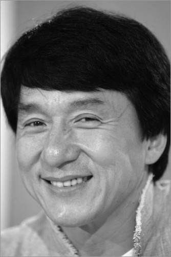 Póster Jackie Chan at the press conference