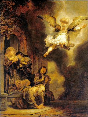 Póster Archangel Raphael leaves the family of Tobias