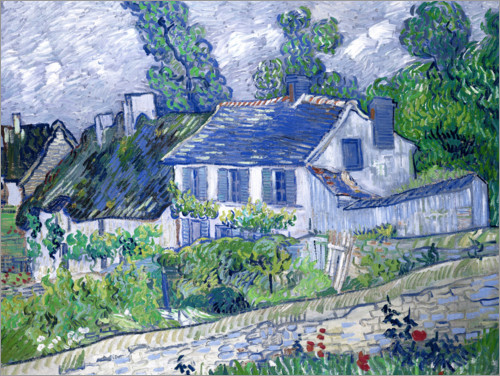 Póster Houses in Auvers