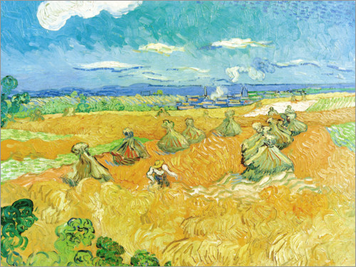 Póster Wheat Field with Reaper