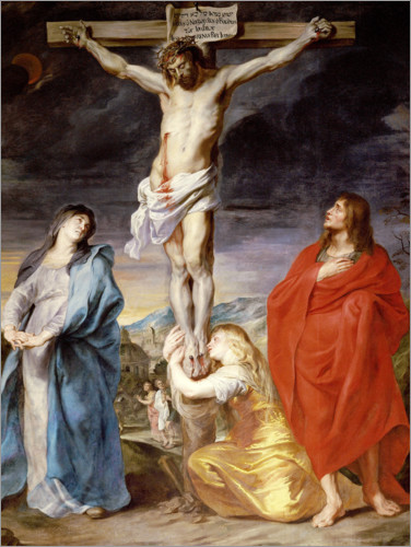 Póster Christ on the Cross with the Virgin, St. John and Mary Magd