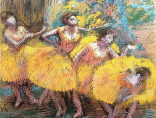 Póster Dancers in Lemon and Pink