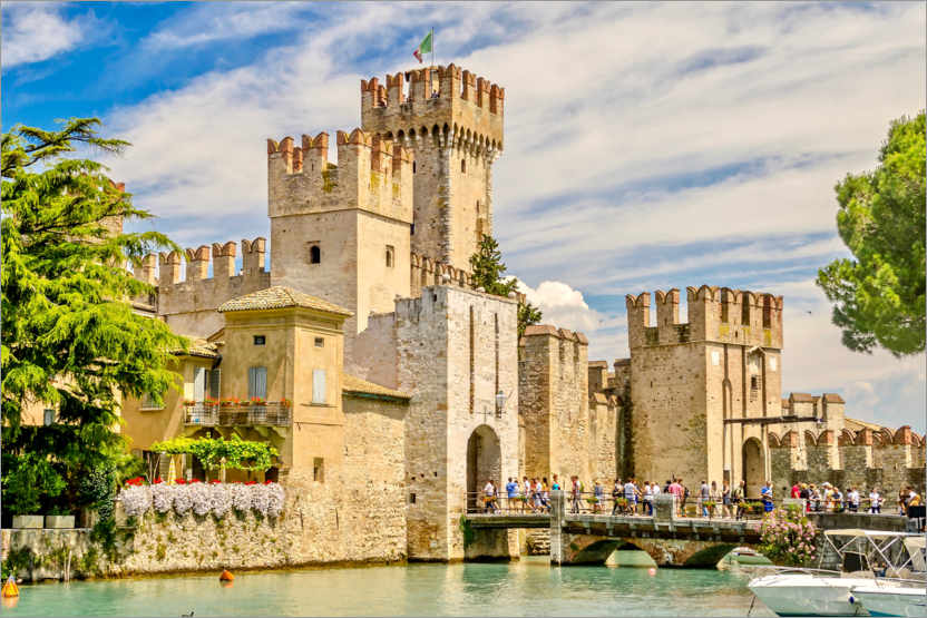 Póster The Scaliger Castle in Sirmione, Italy