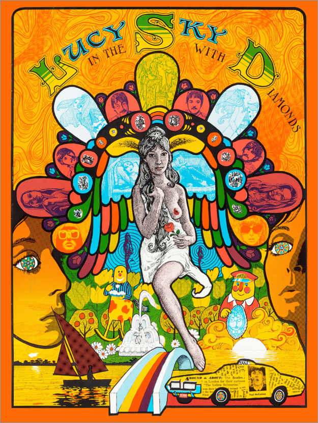 Póster Lucy In the sky with diamonds