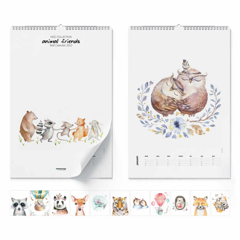 Calendario de pared Animal Friends 2021