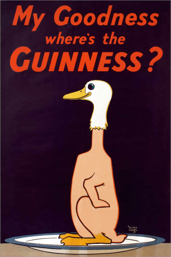 Póster My goodness, where's the Guinness?