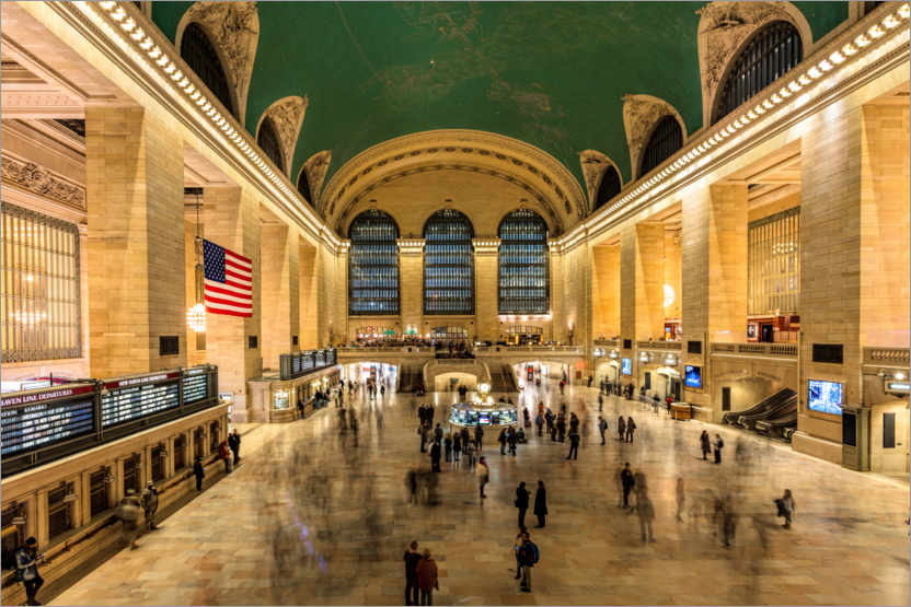 Póster Grand Central Station en Nueva York