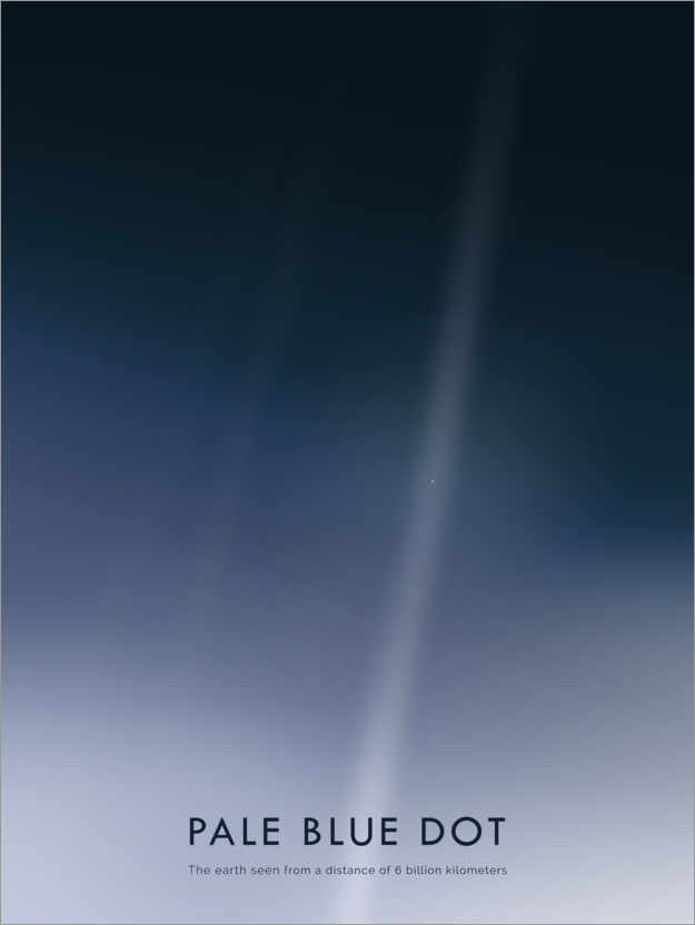Póster Pale Blue Dot