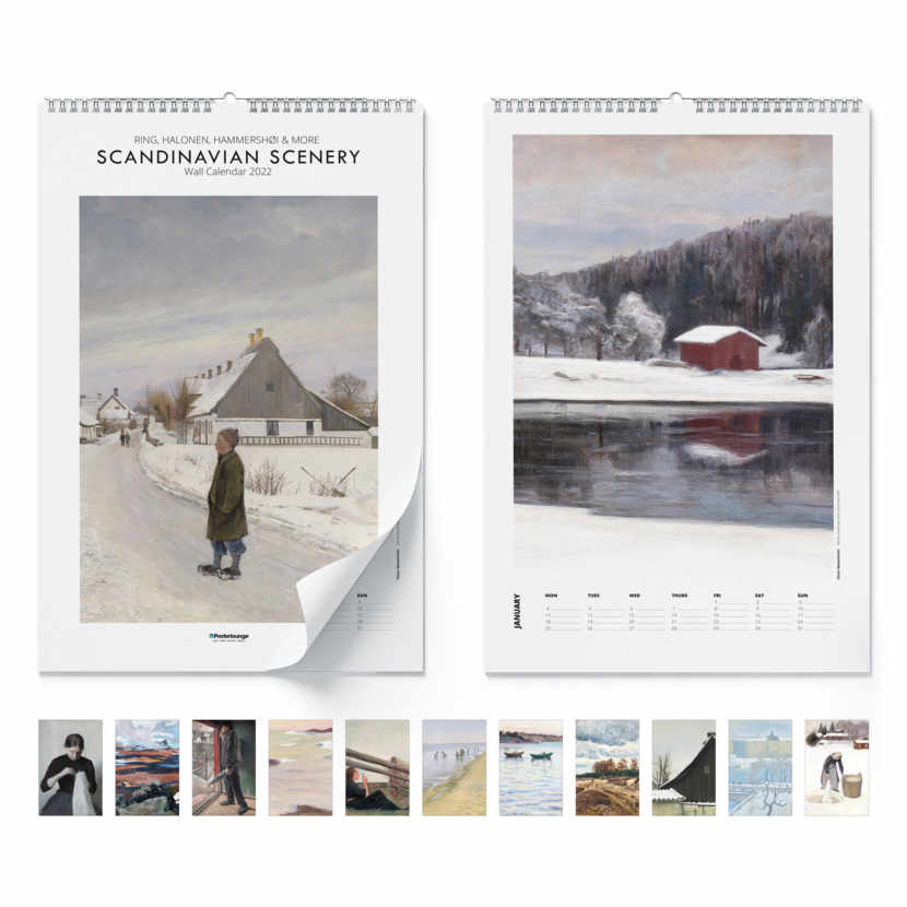 Calendario de pared Scandinavian Scenery 2021