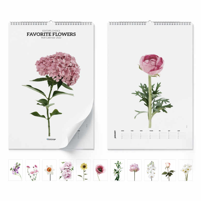 Calendario de pared Favorite Flowers 2021