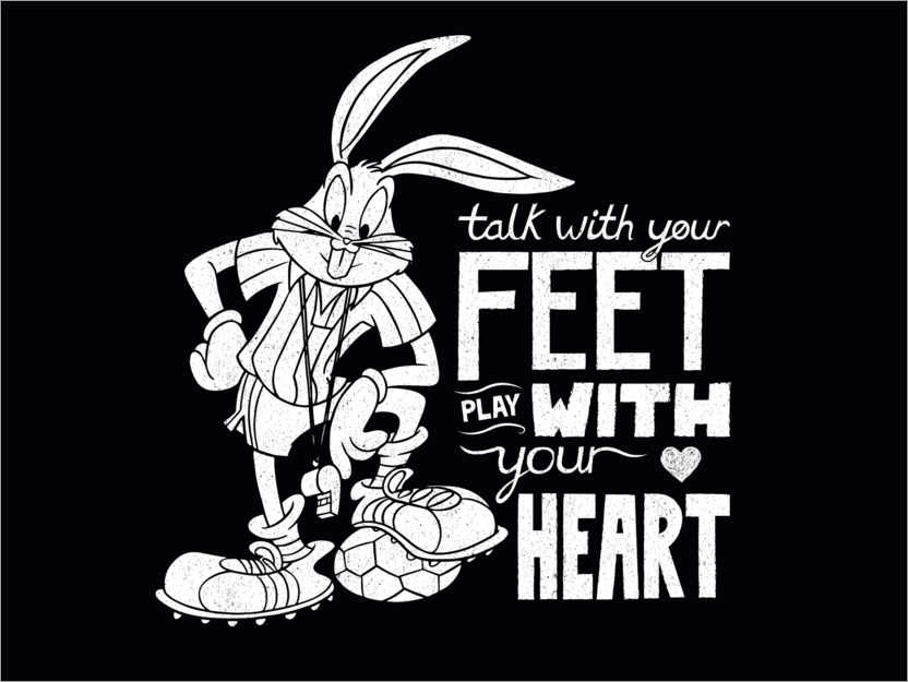 Póster Bugs Bunny - Soccer quote