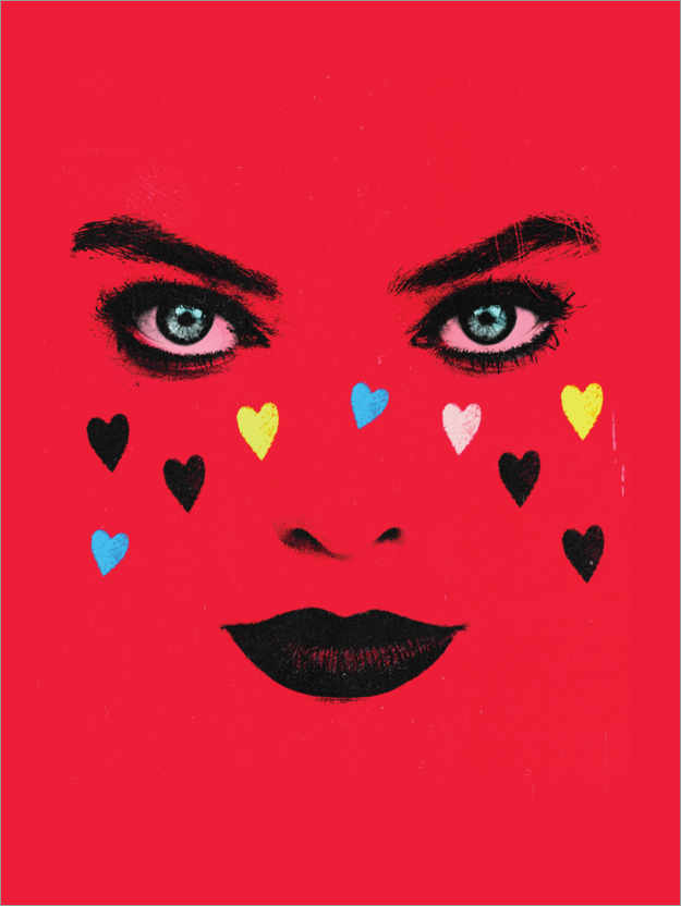 Póster Harley Hearts