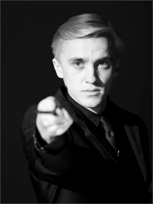 Póster The Half-Blood Prince - Draco Malfoy wand portrait
