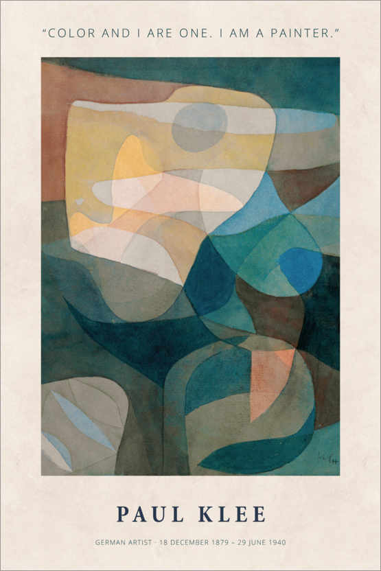Póster Paul Klee - Color and I