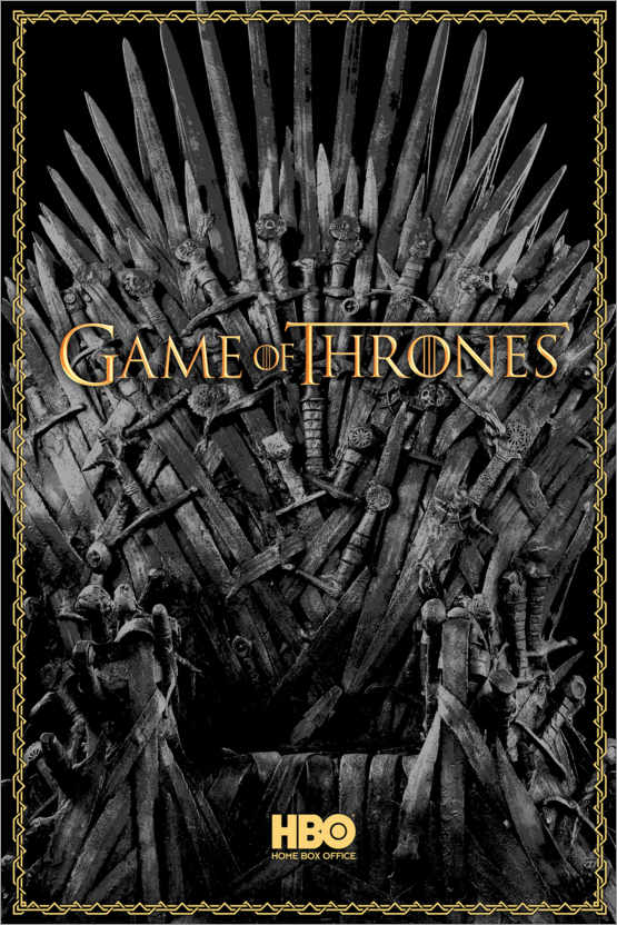 Póster Game of Thrones - The Iron Throne - gold