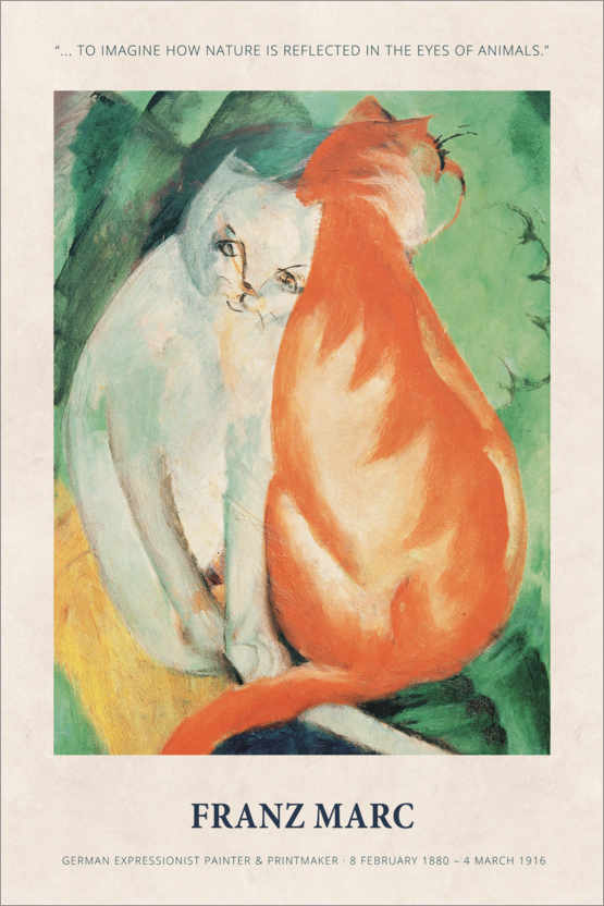 Póster Franz Marc - In the eyes of animals