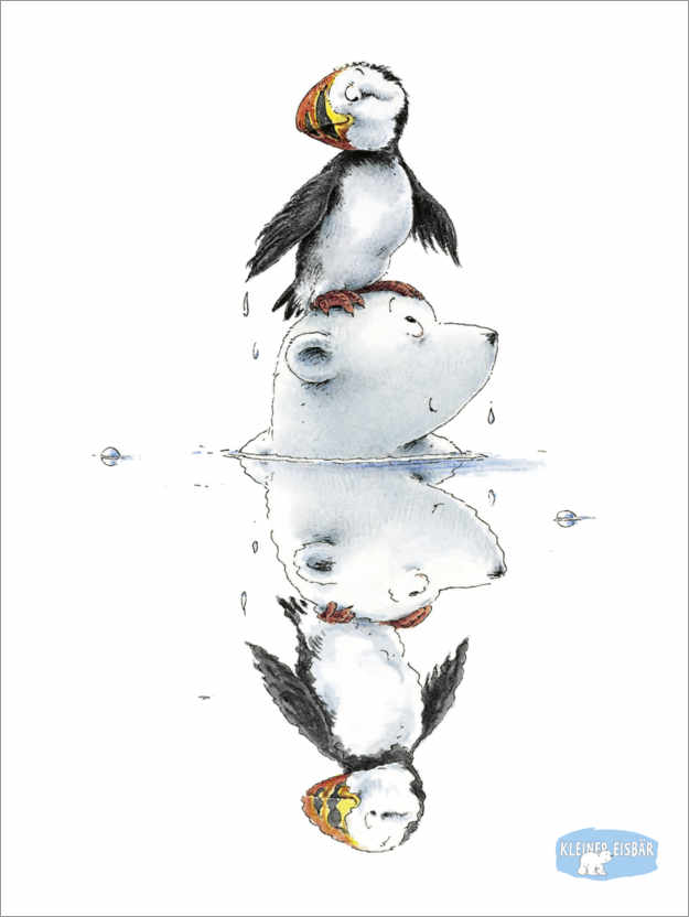 Póster The little polar bear Lars and the puffin Yuri