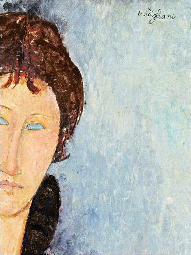 Póster Woman with Blue Eyes